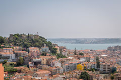 Lisbon Panoramic View. In Portugal Royalty Free Stock Photo