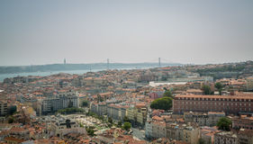 Lisbon Panoramic View. In Portugal Royalty Free Stock Images