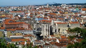 Lisbon Panoramic View Stock Photography