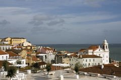 Lisbon - panoramic view in winter day Stock Photos