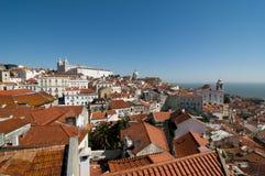 Lisbon panoramiczny Zdjęcia Royalty Free