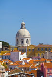 Lisbon pantheon and Alfama, Portugal Royalty Free Stock Photography
