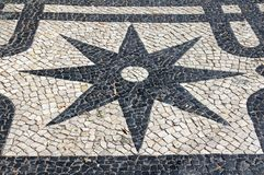 Lisbon Pavement Star Royalty Free Stock Image