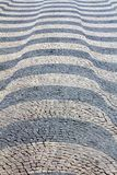 Lisbon pavement Waves Stock Images