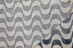 Lisbon pavement Waves Royalty Free Stock Photo