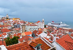 Lisbon pejzaż miejski Obraz Royalty Free