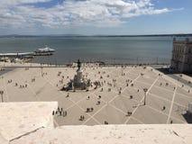 Lisbon. Photo from Terreiro do Paço in central Royalty Free Stock Photos