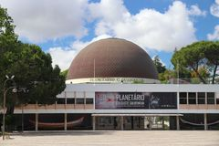 Lisbon Planetarium. LISBON, PORTUGAL - JUNE 5, 2018: Planetarium of Calouste Gulbenkian in Lisbon, Portugal. Lisbon is the 11th-most populous urban area in the stock images