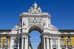Lisbon Plaza Commerce Stock Images