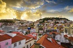Lisbon, Porgual Dawn Skyline Stock Photography