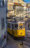 LISBON, PORTUGAL – March, 28, 2014: Famous yellow tram 28, one Stock Images