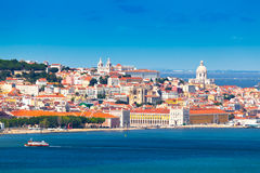 Lisbon, Portugal. Lisbon Skyline as seen from Almada (Portugal royalty free stock photography
