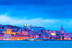 Lisbon, Portugal. Lisbon Skyline at the Blue Hour stock images