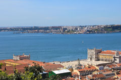 Lisbon, Portugal. Great vew of the city of Lisbon, Portugal Royalty Free Stock Photos