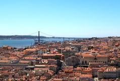 Lisbon, Portugal, 25th of April Bridge Stock Photos