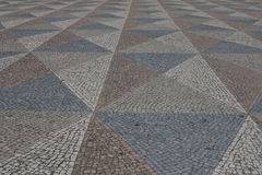Lisbon portugal abstract tile pavement patterns as a background Royalty Free Stock Image