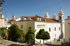 Lisbon, Portugal: Alfama, S. Miguel quarter and church Royalty Free Stock Photography