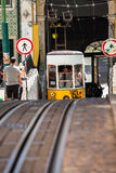 Lisbon,Portugal-April 12,2015:The Bica Funicular (Elevador da Bi Royalty Free Stock Image