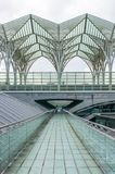 LISBON, PORTUGAL - APRIL 1, 2013:  Oriente Train Station. This Station was designed by Santiago Calatrava for the Expo '98 world's Stock Photos