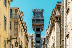 Santa Justa Elevador Lift in Lisbon Royalty Free Stock Photography