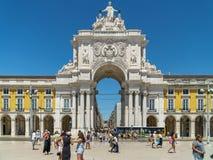 Rua Augusta Arch In Lisbon Royalty Free Stock Photo