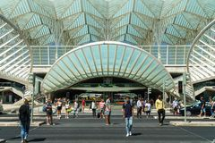 Gare do Oriente In Lisbon Royalty Free Stock Image