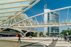 Gare do Oriente or Lisbon Oriente Station Stock Image