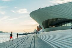 The New Museum Of Art, Architecture and Technology Museu de Arte, Arquitetura e Tecnologia Or MAAT Stock Photography