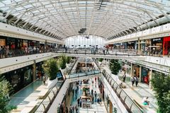 People Crowd Looking For Summer Sales In Vasco da Gama Shopping Center Mall Stock Image