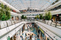 People Crowd Looking For Summer Sales In Vasco da Gama Shopping Center Mall Royalty Free Stock Photo