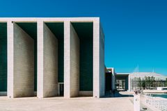 Portuguese National Pavilion In Lisbon By Alvaro Siza Vieira. LISBON, PORTUGAL - AUGUST 10, 2017: Portuguese National Pavilion In Lisbon Was Built By Alvaro Siza Stock Images