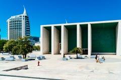 Portuguese National Pavilion In Lisbon By Alvaro Siza Vieira. LISBON, PORTUGAL - AUGUST 10, 2017: Portuguese National Pavilion In Lisbon Was Built By Alvaro Siza Stock Photo