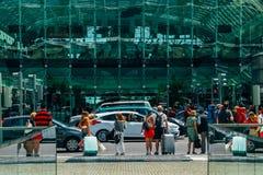 View From Gare do Oriente Lisbon Oriente Station Towards Vasco da Gama Shopping Center Mall Royalty Free Stock Images