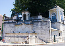 Lisbon, Portugal: baroc fountain in Largo (square) do Rato. Baroc fountain in Largo do Rato, Lisbon Portugal. It was built in limestone, in 1754, by project of Stock Photos