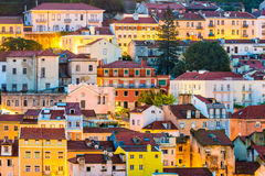Lisbon Portugal buildings Stock Image
