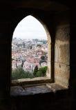 Lisbon, Portugal through castle window Stock Photo