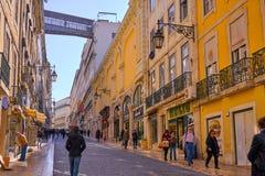 Lisbon Portugal City Center Stock Image