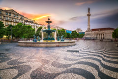 Lisbon, Portugal City Square Royalty Free Stock Photo