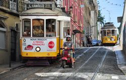 Lisbon street view Stock Photos