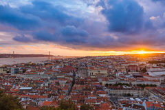 Lisbon Portugal cityscape Royalty Free Stock Images