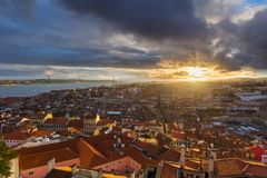Lisbon Portugal cityscape Royalty Free Stock Photography