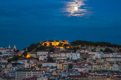 Lisbon. Portugal cityscape night scene Royalty Free Stock Photos
