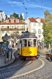 Lisbon, Portugal. Classical yellow tram Royalty Free Stock Photos