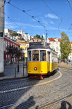 Lisbon, Portugal. Classical yellow tram Royalty Free Stock Photo
