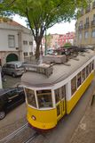 Lisbon, Portugal. Classical yellow tram No, 28 Royalty Free Stock Photo