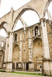 Lisbon, Portugal: detail of Carmo church and convent ruins Stock Image