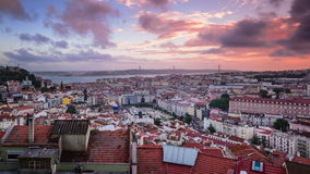 Lisbon, Portugal Downtown Cityscape stock video footage