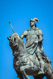 Lisbon, Portugal. Equestrian statue of King John I in the Praca Royalty Free Stock Images