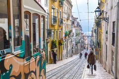 Lisbon, Portugal, Europe - Traditional street view Stock Photography