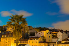 Lisbon, Portugal - Evening Cityscape of Alfama Royalty Free Stock Photos